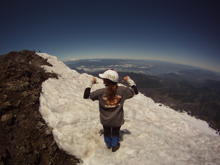 Standing on Top of Volcan Villarica - Chile