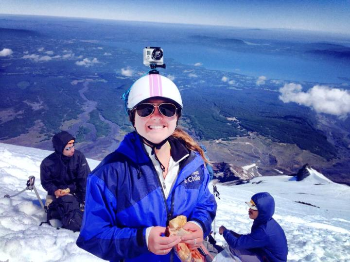 PB&Js on the Way Up Volcan Villarica