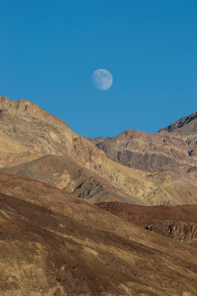 The Moon Overlooking Death Valley - California