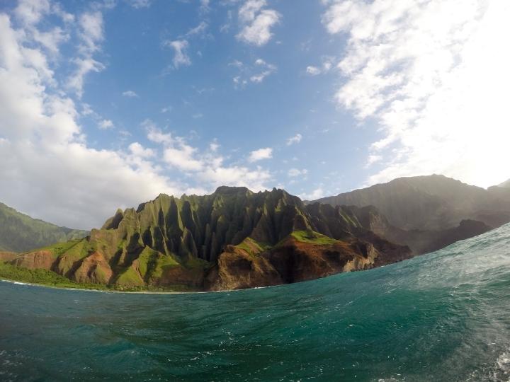 Taking in the views of Kalalau.