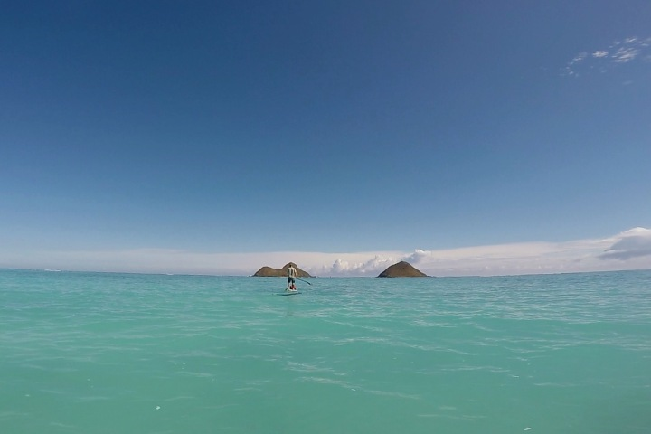 Stand Up Paddleboarding in Kailua Bay