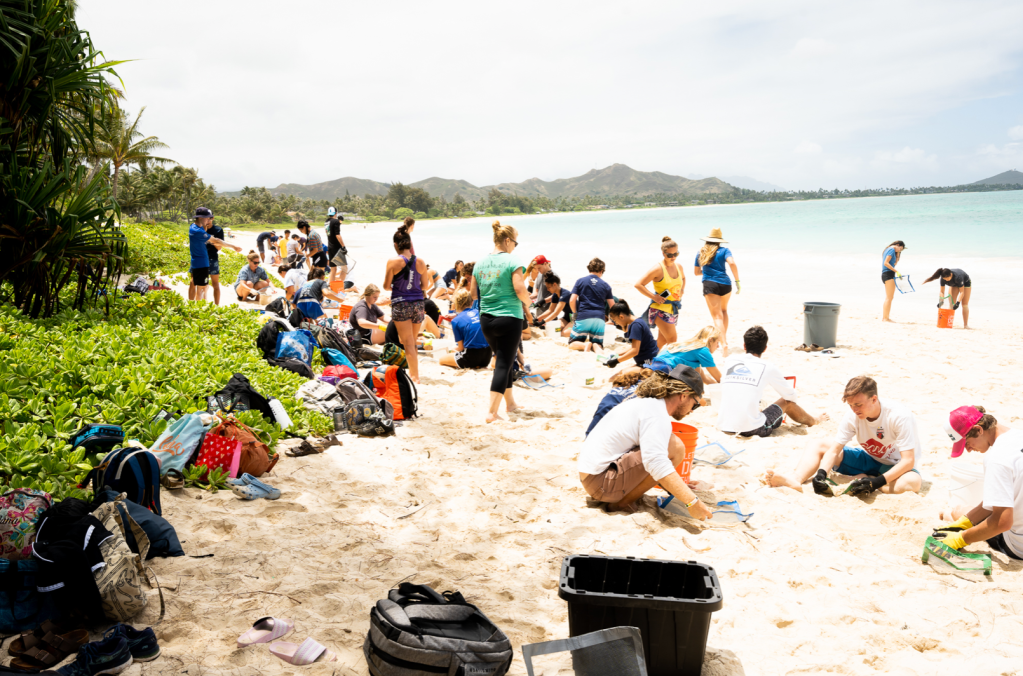 Windward Oahu beach cleanup